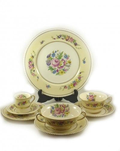 set-vaisselle-hampton-fleurie